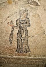 ძალისა. ტრიკლინიუმის მოზაიკური იატაკი. ახ. წ. III საუკუნე. Dzalisa. Triclinium mosaic floor. Third century AD