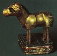 ირმის ოქროს ფიგურა თრიალეთიდან (საქართველო), ძვ. წ. 18-17 სს. Gold figurine of Deer from Trialeti(Georgia), 18-17 c. BC